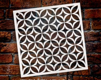 Circle Star Pattern Stencil - Select Size - STCL1022 by StudioR12