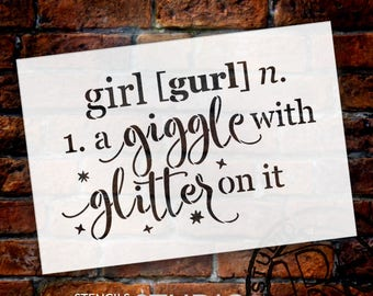 Girl - Defined - Word Stencil - Select Size - STCL1868 - by StudioR12