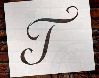 T -Graceful Monogram Stencil - Select Size - STCL1920 - by StudioR12