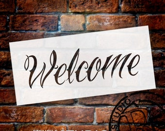 Welcome - Wicked Style - Word Stencil - Select Size - STCL1437 - by StudioR12