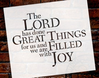 The Lord Has Done Great Things - Word Stencil - Select Size - STCL1472 - by StudioR12
