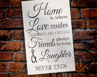 Home Is Where Love Resides - Bridesmaid Word Stencil - Select Size - STCL1431 - by StudioR12