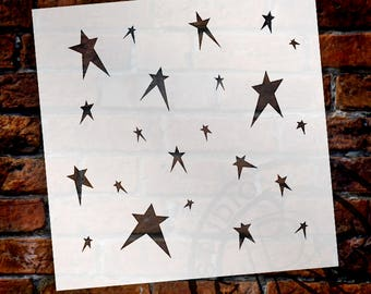 Primitive Stars- Pattern Stencil-Select Size-SKU:STCL617