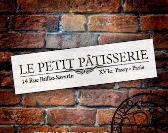 Le Petite Patisserie Word Art Stencil - Select Size - STCL907 - by StudioR12