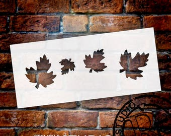 """Little fall Leaves Stencil - 9"""" X 4""""-STCL425 - by StudioR12"""