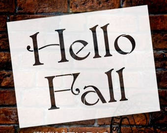Hello Fall - Elegant - Word Stencil - Select Size - STCL2108 - by StudioR12