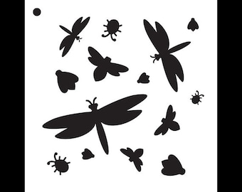 "Bugs Life Pattern Stencil - 6"" X 6"" - STCL811_1 - by StudioR12"