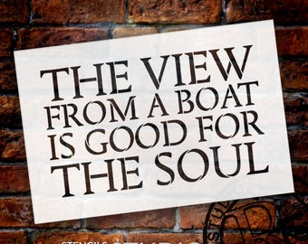 The View From A Boat - Word Stencil - Select Size - STCL1885 - by StudioR12