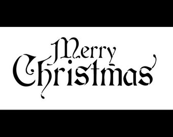 """Word Stencil - Merry Christmas - Regal Stacked - 12"""" x 6"""" - STCL204"""
