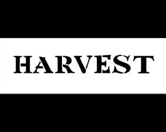 """Harvest - Word Stencil - 9"""" X 3"""" - SKU:STCL502"""