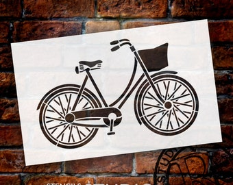 Vintage Bicycle Art Stencil - Select Size - STCL847 - by StudioR12