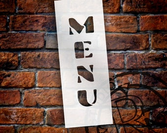 Menu - Chunky Vertical - Word Stencil - Select Size - STCL1335 - by StudioR12