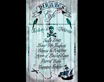 "Pirates Cafe Collage Paper - 11"" x 17"" - CLPR294 - by StudioR12"