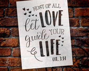 Most Of All Love - Word Art Stencil - Select Size - STCL1898 - by StudioR12