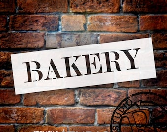 Bakery - Skinny Serif - Word Stencil - Select Size - STCL2059 - by StudioR12