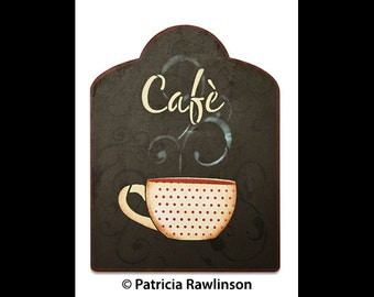 Cafe Word Art Stencil - Casual Script - Select Size - STCL820 by StudioR12
