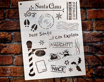 Letters To Santa - Art Elements Stencil - Select Size - STCL990 by StudioR12