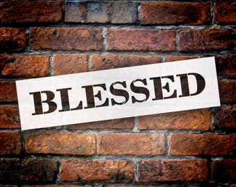 Blessed - Farmhouse Serif - Word Stencil - Select Size - STCL1959 - by StudioR12