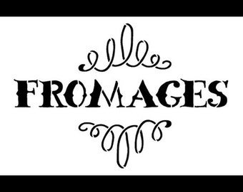 """Fromages Word Art Stencil - 7"""" x 4-1/2"""" - STCL900_1 - by StudioR12"""