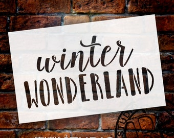 Winter Wonderland - Christmas Stencil - STCL1407 - Select Size - by StudioR12