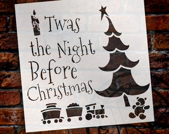 Twas The Night Before Christmas - Christmas Stencil - Select Size - STCL1505 - by StudioR12