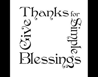"""Simple Blessings Word Art Stencil -  9"""" X 9"""" - STCL569 - by StudioR12"""
