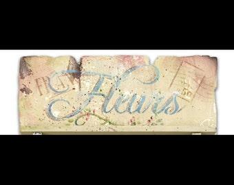 "Fleurs - Word Stencil - 8"" x 4"" -  STCL612 by StudioR12"