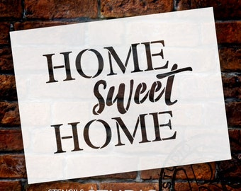 Home Sweet Home - Word Stencil - Select Size - STCL1478 - by StudioR12
