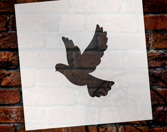 Christmas Shapes Stencil - Dove - Select Size - STCL1551 - by StudioR12