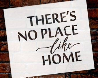 There's No Place Like Home - Word Stencil - Select Size - STCL1884 - by StudioR12