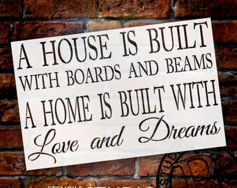 """A House And Home Are Built... - 31"""" x 20"""" - STCL1420_4 - by StudioR12"""