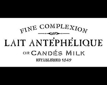Lait Antephelique Word Art Stencil - Select Size - STCL891