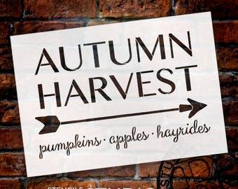 Autumn Harvest - Arrow - Word Art Stencil - Select Size - STCL1996 - by StudioR12