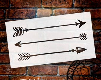 Rustic Arrows - Art Stencil - Select Size - STCL1983 - by StudioR12