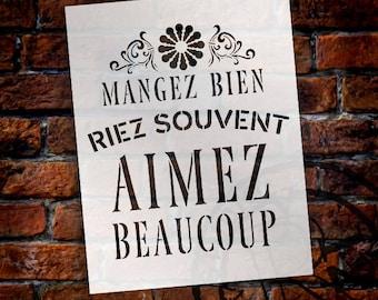 Aimez Beaucoup Word Art Stencil - Select Size - STCL889 - by StudioR12