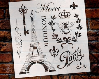 La France Vintage Art Stencil - Select Size - STCL899 - by StudioR12