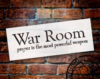 War Room - Prayer - Word Stencil - Select Size - STCL2076 - by StudioR12