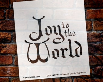 "Joy to the World - 4.5"" X 5""- STCL543 by StudioR12"
