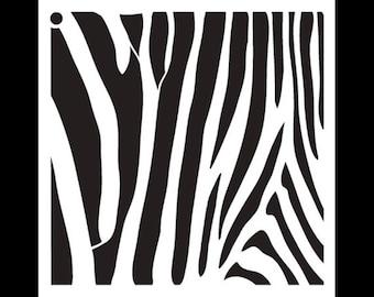 Zebra Stripes-Pattern Stencil-Select Size-SKU: STCL633