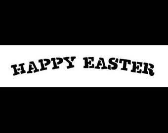 """Happy Easter - Curved - 12"""" X 3"""" - STCL407 - by StudioR12"""