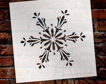 "Large Snowflake Stencil by StudioR12 - Christmas, Holiday, Santa, Painting, Journaling, Window, Art, Mixed Media, Chalk -7"" x 7""-SKU:STCL577"