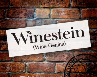 Winestein - Word Stencil - Select Size - STCL1328 - by StudioR12