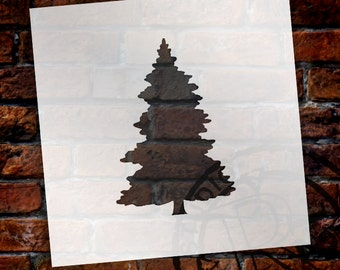 Christmas Shapes Stencil - Fir Tree - Select Size - STCL1561 - by StudioR12