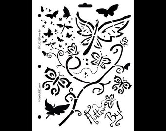 "Flutter By Stencil - 8 1/2"" x 11"" - STCL123 by StudioR12"