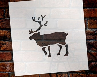 Christmas Shapes Stencil - Real Reindeer - Select Size - STCL1579 - by StudioR12