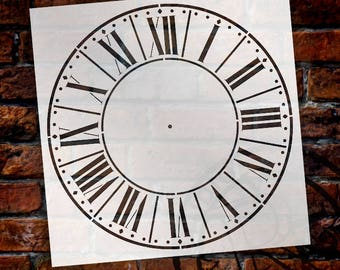 Parisian Clock Stencil by StudioR12 - For DIY Painting Wood Clocks Small to Extra Large Farmhouse Country Home Decor - SELECT SIZE
