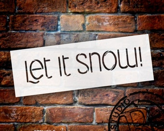 Let It Snow - Word Stencil - Select Size - STCL1469 - by StudioR12