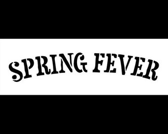 """Word Stencil - Spring Fever - 9"""" X 3""""- STCL320 - by StudioR12"""