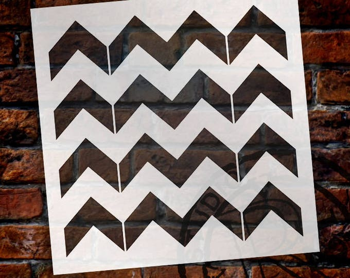 Featured listing image: Thick Chevron Pattern Stencil - Select Size - STCL2000 - by StudioR12