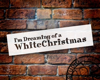 White Christmas - Word Stencil - Select Size - STCL1473 - by StudioR12